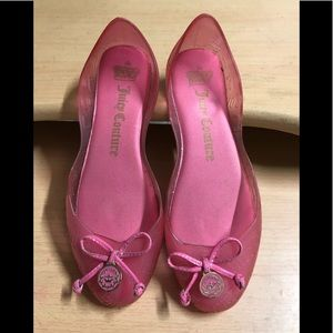 Juicy Couture pink Jelly Flats sz 6